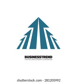 Business trend - vector logo template concept illustration for business company. Arrows sign. Design element.