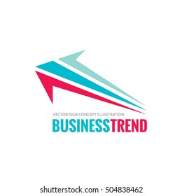 Business trend - vector logo template concept illustration. Development sign. Abstract arrow. Design element.