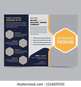 business trifold brochure design template