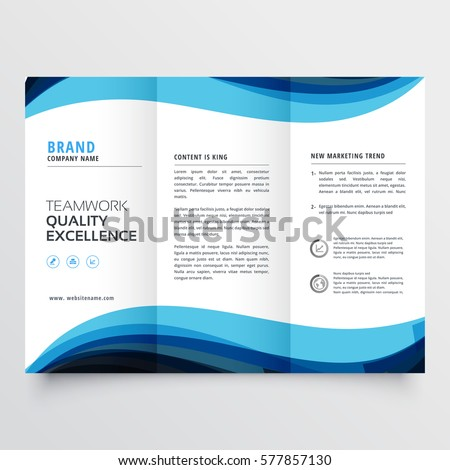 business trifold brochure design template stock vector royalty free