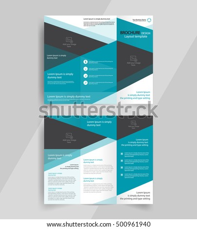 business trifold brochure layout design vector stock vektorgrafik