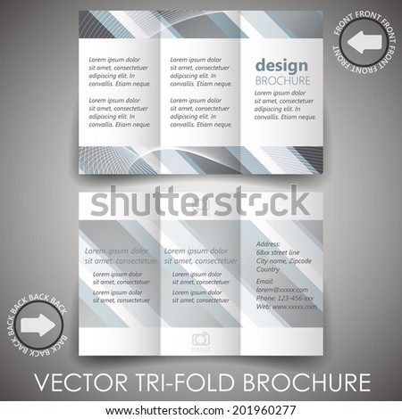 business trifold flyer template corporate brochure stock vector