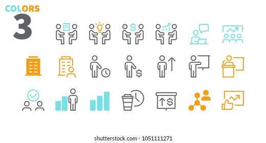 Business UI Pixel Perfect Well-crafted Vector Thin Line Icons 48x48 Ready for 24x24 Grid for Web Graphics and Apps. Simple Minimal Pictogram Part 5-6