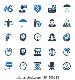 Business Ultimate Icons - Blue Series (Set 1)