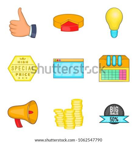 Business undertaking icons set