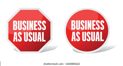 Business as usual on road sign