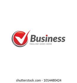 business  v check mark logo icon vector template