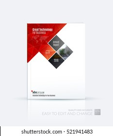 Business vector. Brochure template layout, cover design annual report, magazine, flyer in A4 with rectangles, diagonal house window shape for real estate, business, building. Abstract design.