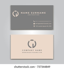 Business Vector Card creative Design, Modern style, front and back samples, Simple templates, flat blank layout for your idea