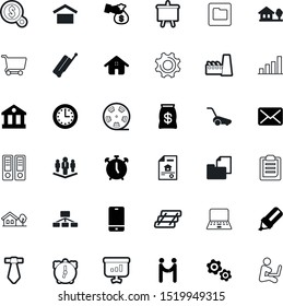 business vector icon set such as: shipping, training, trolley, employee, reel, tax, garden, speed, zoom, chair, portfolio, workplace, tie, exterior, worker, nobody, travel, customer, unit, online