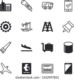 business vector icon set such as: guest, steel, cargo, cogwheel, goal, objective, base, page, single, ladder, target, stairway, frame, aiming, empty, international, portable, chat, turbine, cog
