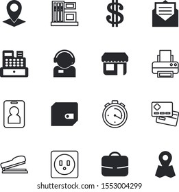business vector icon set such as: baggage, staff, bag, blank, avatar, correspondence, notice, page, filling, microphone, industrial, send, saving, day, digital, mail, credit, telephone, headset, open