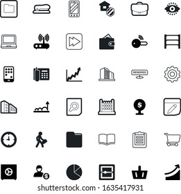 business vector icon set such as: profit, retina, executive, depot, scanning, speed, vintage, secrecy, science, calculate, engine, bag, restaurant, searching, performance, warehouse, insurance, drawn