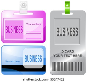 Business. Vector id cards.