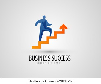 business vector logo design template. success or progress icon.
