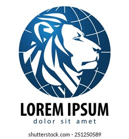 business vector logo design template. lion or animals icon.
