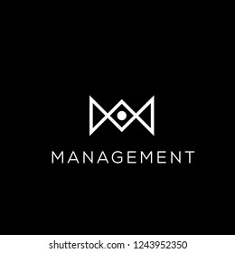 Business vector logo. M letter logo