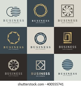 Business vector logo set. Graphic design editable for your design.
