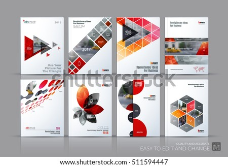 business vector set brochure template layout のベクター画像素材