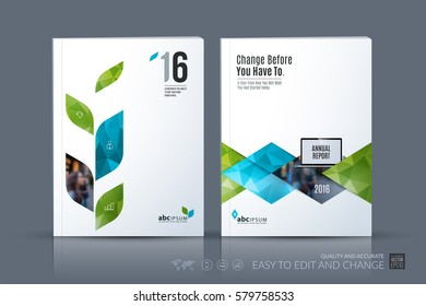 Natural Organic Products Brochure Cover Design Stock Vector ...