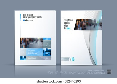 Business vector template. Brochure layout, cover modern design annual report, magazine, flyer in A4 with many grey rectangles, soft shapes for business with abstract texture background.