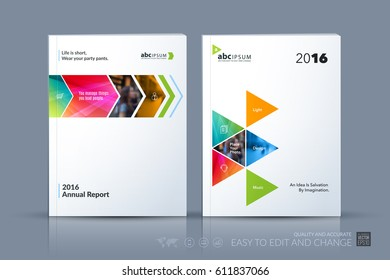Business vector template. Brochure layout, cover modern design annual report, poster, flyer in A4 with colourful geometric shapes for construction with abstract texture background.