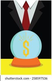 Business vision, money concept