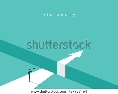 business visionary vector conept businessman looking のベクター画像