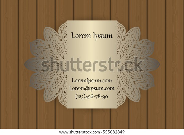 Business Visiting Invitation Card Template Cut Stock Image