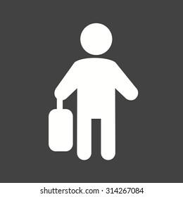 Business, walking, briefcase icon vector image. Can also be used for activities. Suitable for use on web apps, mobile apps and print media.