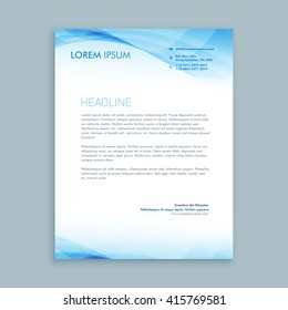 Letterhead template images stock photos vectors shutterstock business wave letterhead template spiritdancerdesigns Image collections