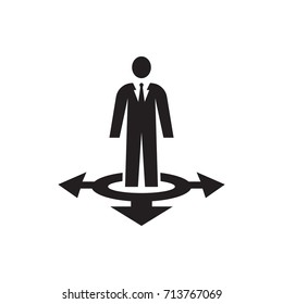Business way Icon on the white background
