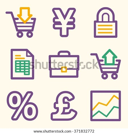 Business Web Icons Finance Money Business Stock Vector Royalty Free