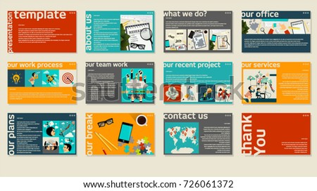 business web presentation trendy template vector stock vector