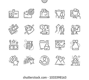 Business Well-crafted Pixel Perfect Vector Thin Line Icons 30 2x Grid for Web Graphics and Apps. Simple Minimal Pictogram