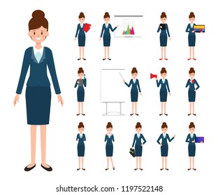 Business Woman character in job.