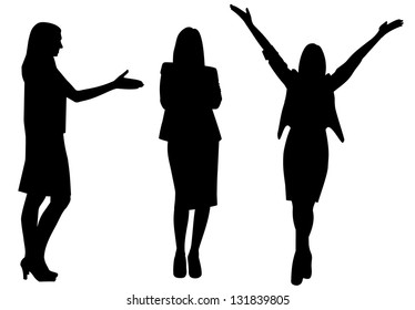 business woman silhouette vector illustration isolated