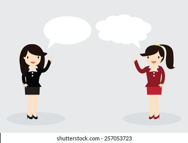 Business woman are talking together. Can write your message in the copy space