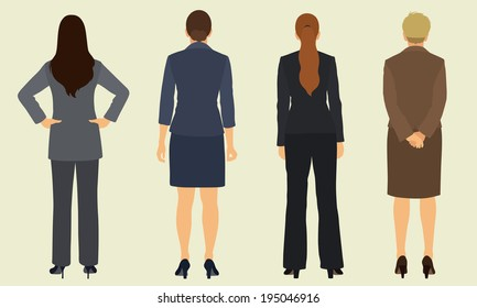 Business Women from Behind