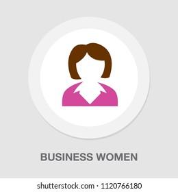 business women icon - female illustration, lady women silhouette