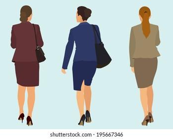 Business Women Walking Away