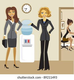 Business Women at the Water cooler