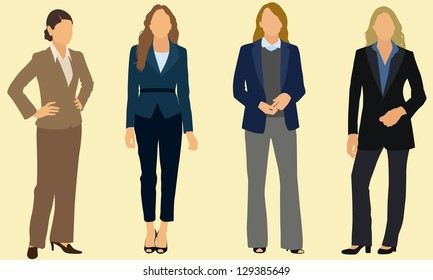 Business attire images stock photos vectors shutterstock business women wearing pants suits cheaphphosting Image collections