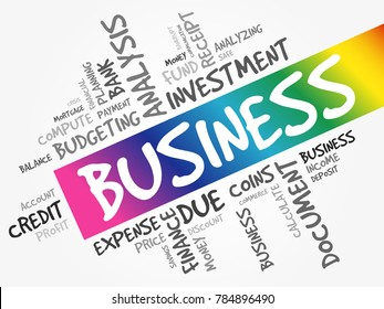 BUSINESS word cloud collage, business concept background
