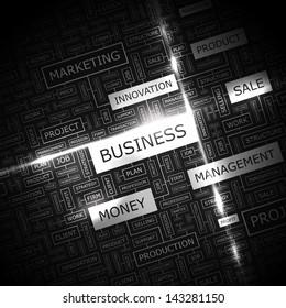 BUSINESS. Word cloud concept illustration.