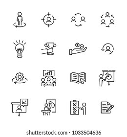 Business work icon set 4, vector eps10