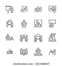Business work icon set, vector eps10.