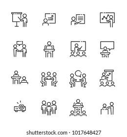 Business Work Icon Set, Vektor eps10.