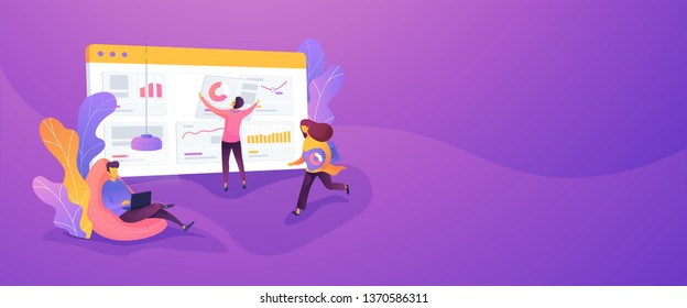 Business workflow, business process efficiency, working activity pattern concept.Vector banner template for social media with text copy space and infographic concept illustration.