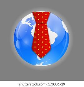 Business World Concept Vector Illustration